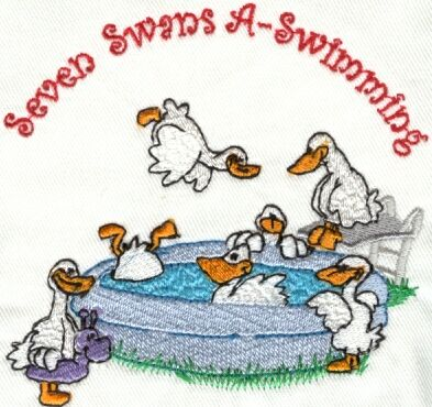 Gallery images and information: Seven Swans A Swimming Meaning
