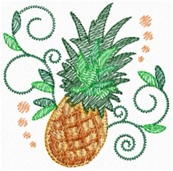 Jacobean Pineapple Lite