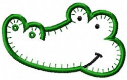 Jiffy Applique Alligator