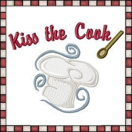 Kiss the Cook Machine Embroidery Designs