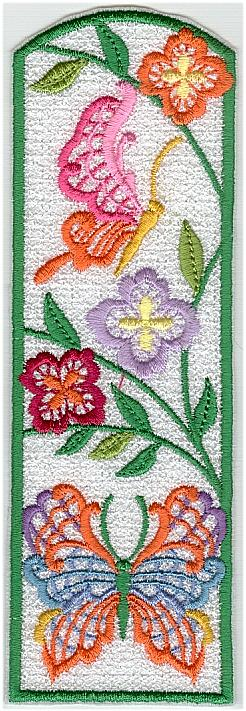 Lacy Butterfly Bookmarks Machine Embroidery Collection