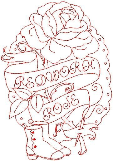Free Redwork Embroidery Designs Patterns - Crazy Creek Quilts