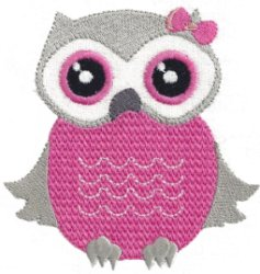 Baby Girl Owls Machine Embroidery Designs