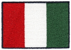 Italian Flag Embroidery Design