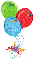 Circus Party Balloons Applique