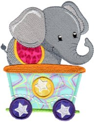 Circus Elephant Car Applique