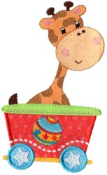 Circus Giraffe Car Applique