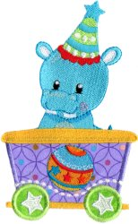 Circus Hippo Car Applique