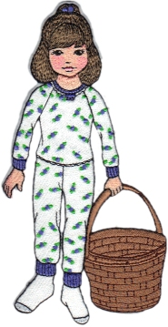 Clara Embroidered January Paper Doll
