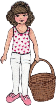 Clara Embroidered February Paper Doll