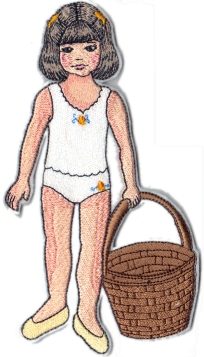 Clara March Embroidered Paper Doll