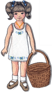April Clara Embroidered Paper Doll