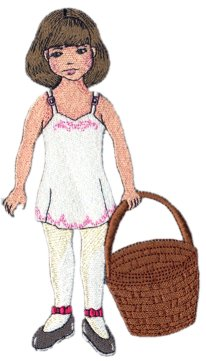 November Clara Embroidered Paper Doll