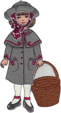 Clara Embroidered Paper Doll in Cloak & Hat