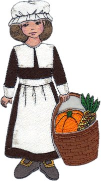 Clara Embroidered Paper Doll in Pilgrim Outfit