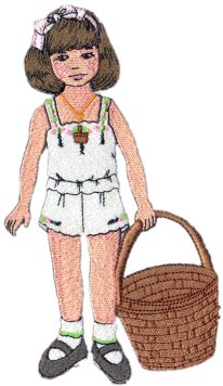 December Clara Embroidered Paper Doll