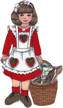 Clara Embroidered Paper Doll in Baking Outfit