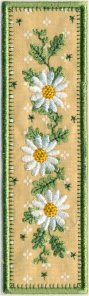 Daisies Free Standing Applique Bookmark