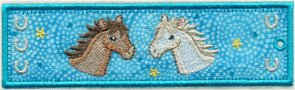 Horses Free Standing Applique Bookmark