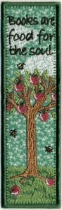 Apple Tree Free Standing Applique Bookmark