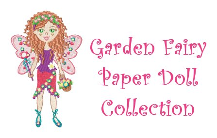 Garden Fairy Paper Doll Embroidery Design Collection