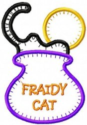 Jiffy Fraidy Cat Applique