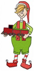 Christmas Elf with Train
