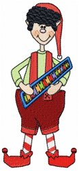Christmas Elf with Xylophone