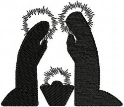 Nativity Silhouette Holy Family Solid