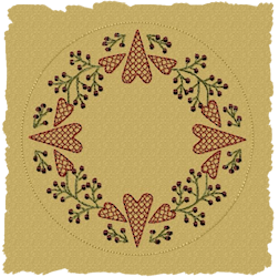 Berry Heart Candle Mat Motif Version