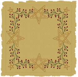 Berry Star Candle Colorwork  Motif Version