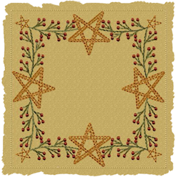 Berry Star Candle Mat Motif Version