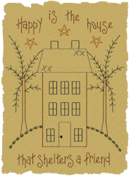 Happy Is The House Primitive Colorwork Design