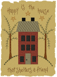 Happy Is The House Primitive Fill Design