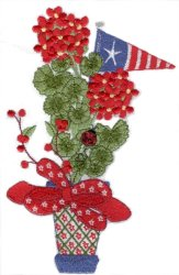 Red White & Blue Patriotic Geranium Small