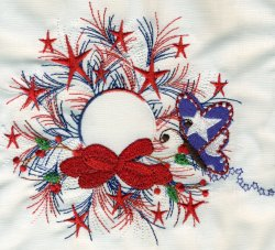 Red White & Blue Wreath