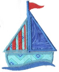 Applique Sailboat 1