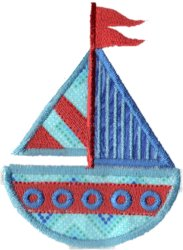 Applique Sailboat 2