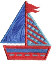 Applique Sailboat 3