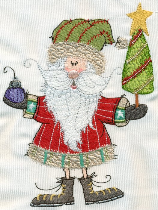 sassy santas machine embroidery designs