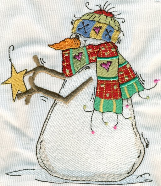 free machine embroidery designs snowman