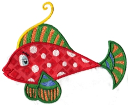 Tropical Fish Applique 01