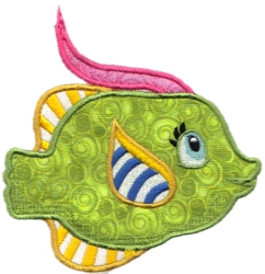 Tropical Fish Applique 02