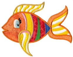 Tropical Fish Applique 06