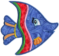 Tropical Fish Applique 07