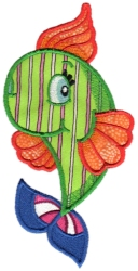 Tropical Fish Applique 08