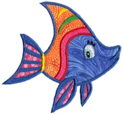 Tropical Fish Applique 09