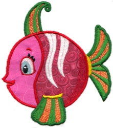 Tropical Fish Applique 10