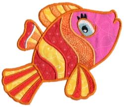 Tropical Fish Applique 11