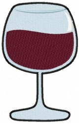 Red Wine Glass Short